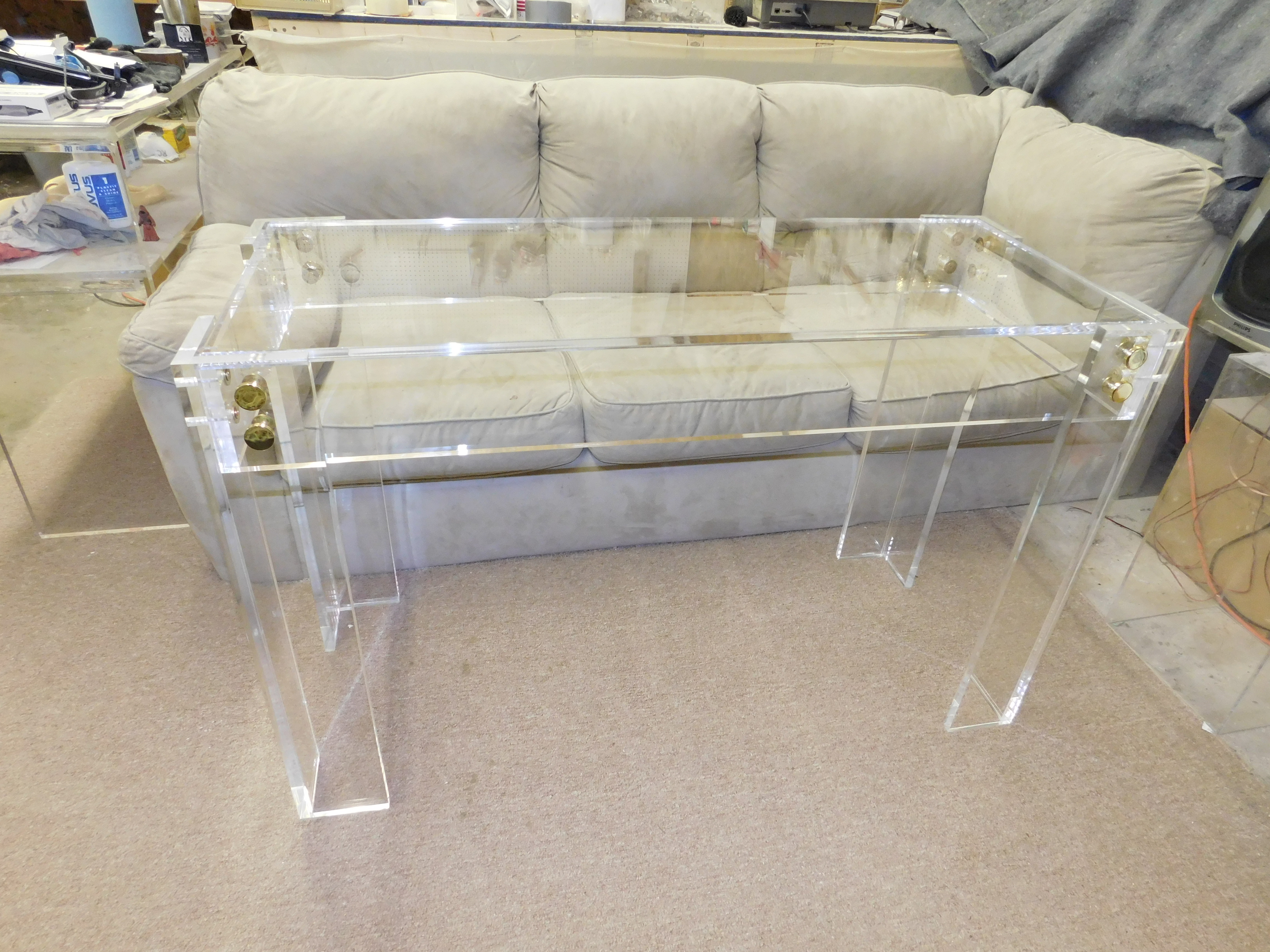 "Acrylic ""Button Line"" Console Table"