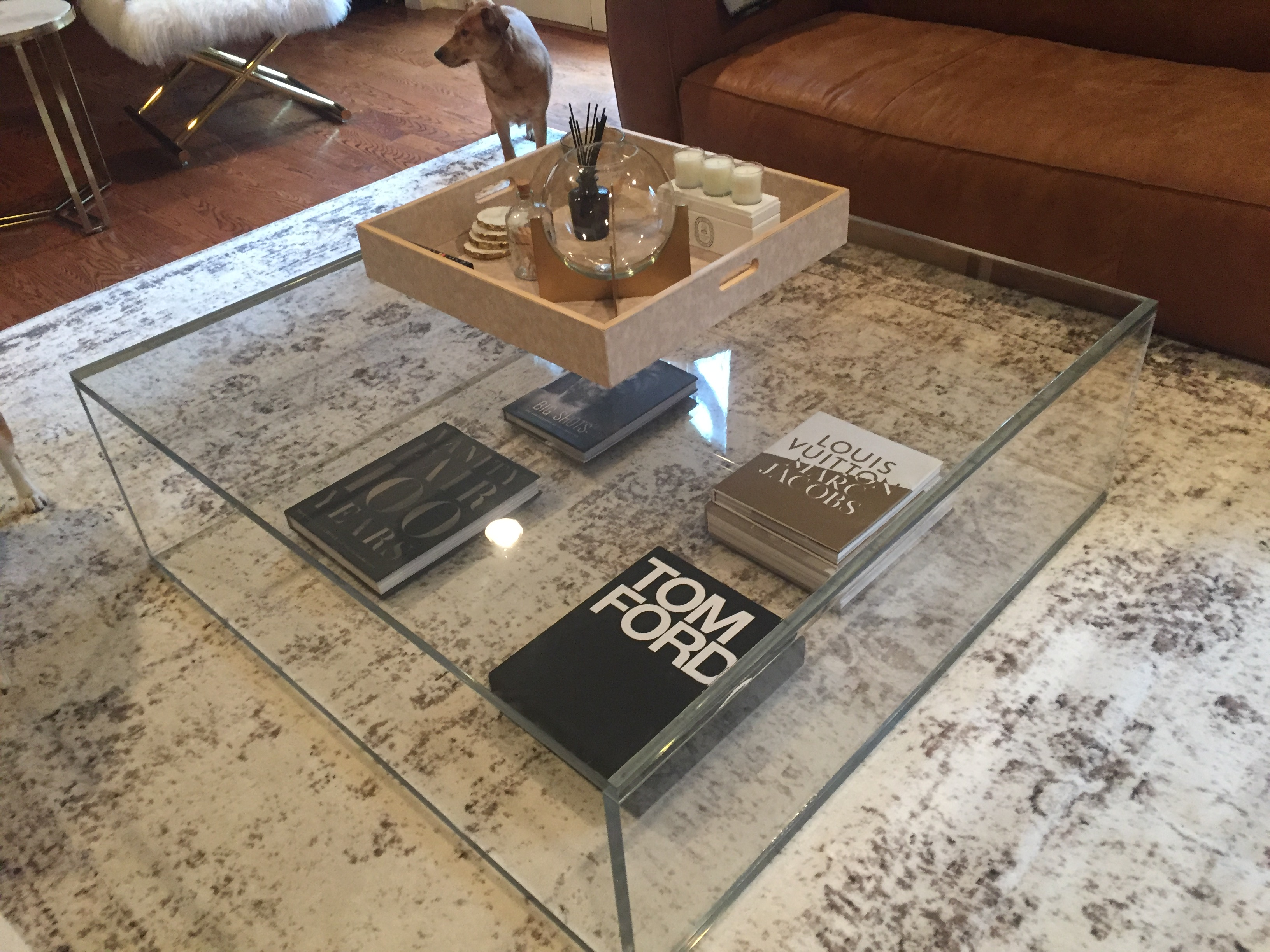 acrylic coffee table box style