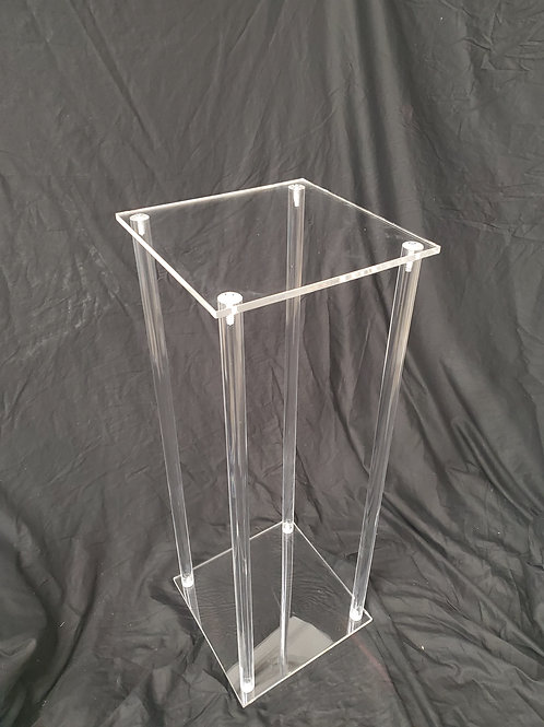 """Centerpiece - Table stand round or sqaure, 1"""" solid rod, easy to assemble"""