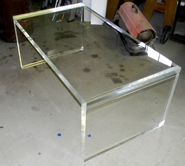 coffee table_acrylic_Lucite_straight edge_slab leg (1)