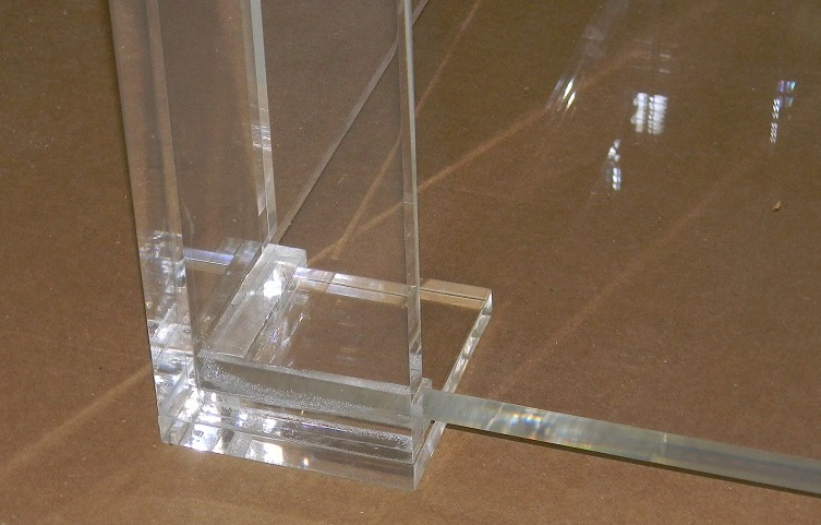 acrylic coffee table lower shelf