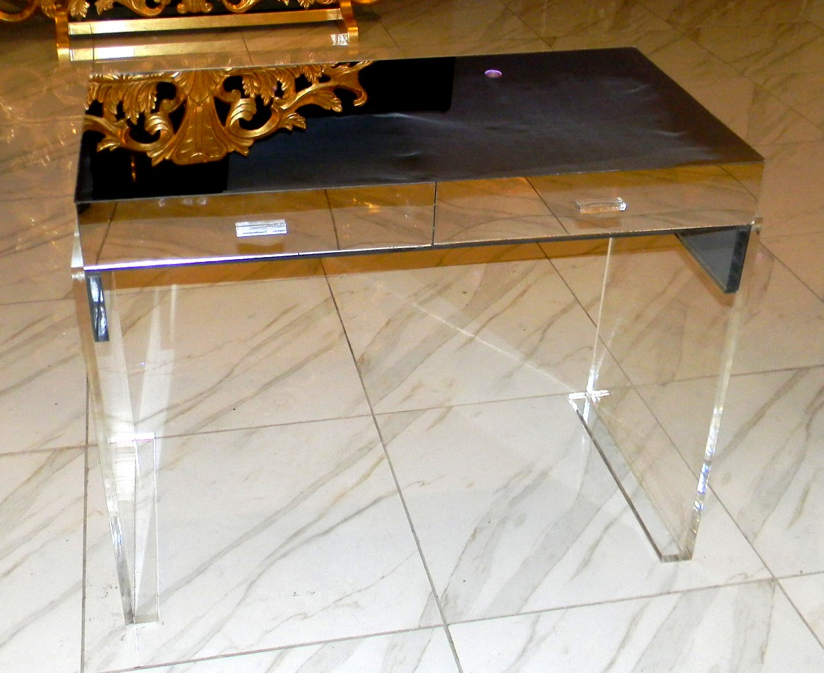 Mirrored Acrylic Vanity/Writing Desk