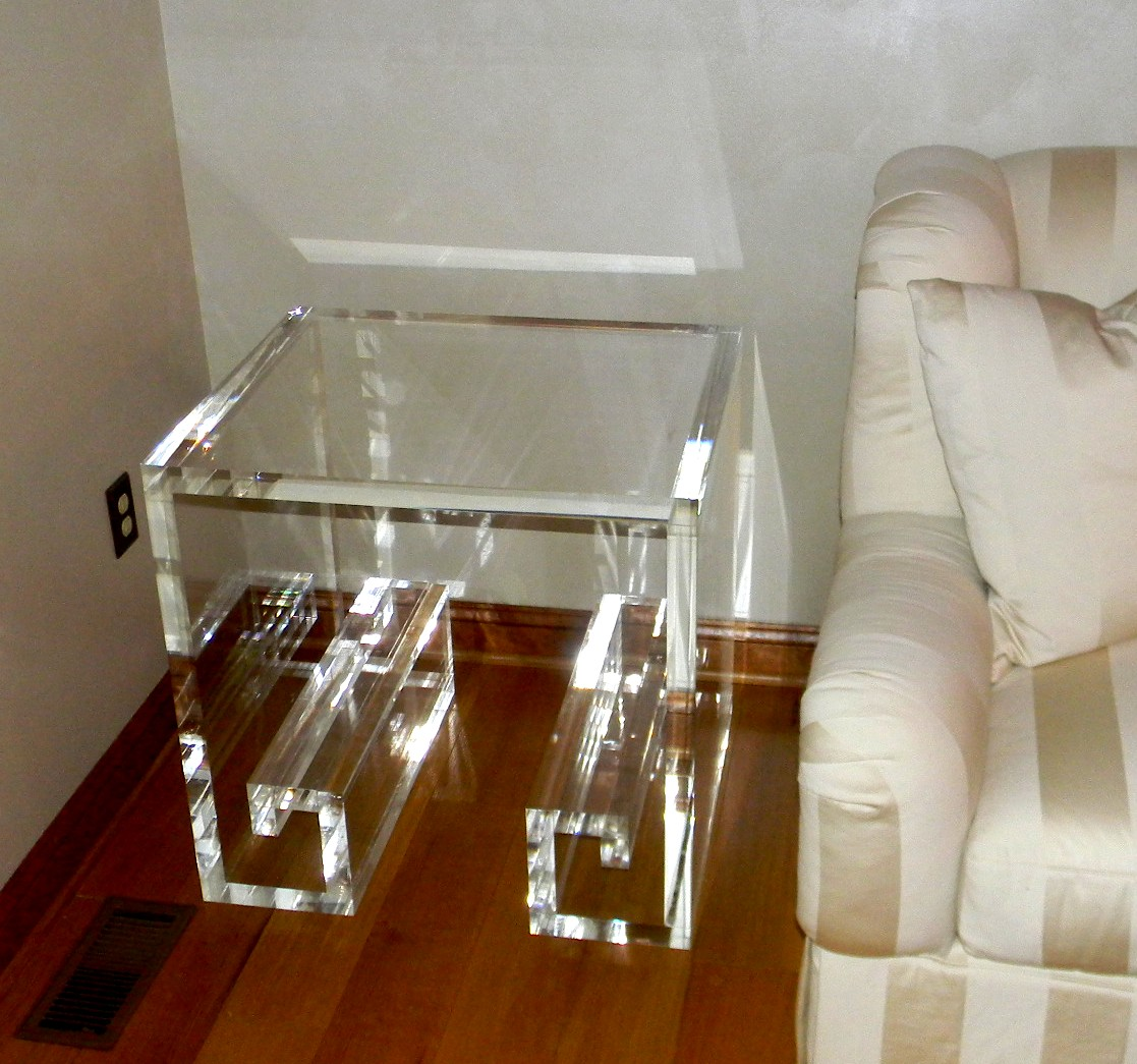 Acrylic Greek Key Table