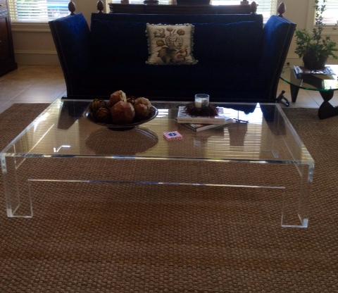 Acrylic Flange-Style Coffee Table