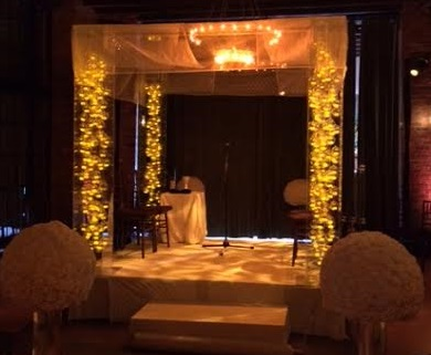 Lucite-Acrylic Chuppah Full View Close Up