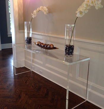 "1.5"" Thick Acrylic Console Table"