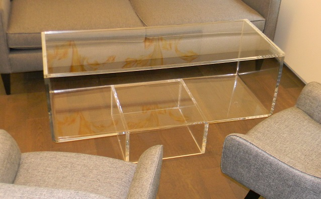 "Acrylic ""Upside Down"" Waterfall Coffee Table"