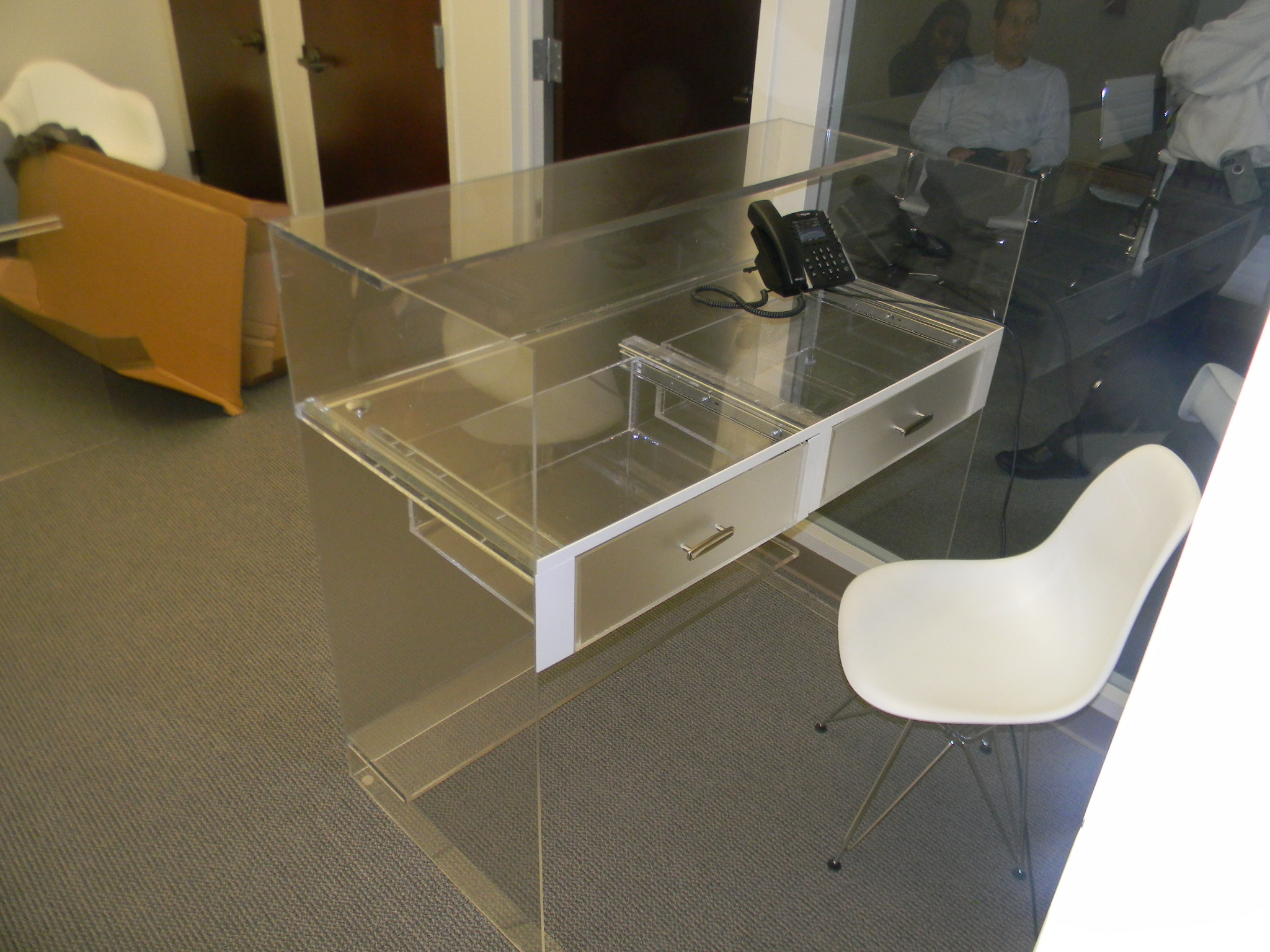 Acrylic Reception Desk
