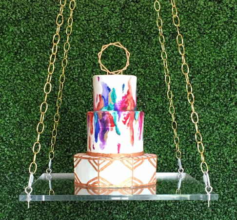 cake swing gold chain small cake