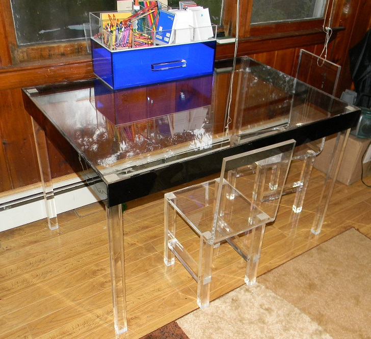 Acrylic Parsons Style Table