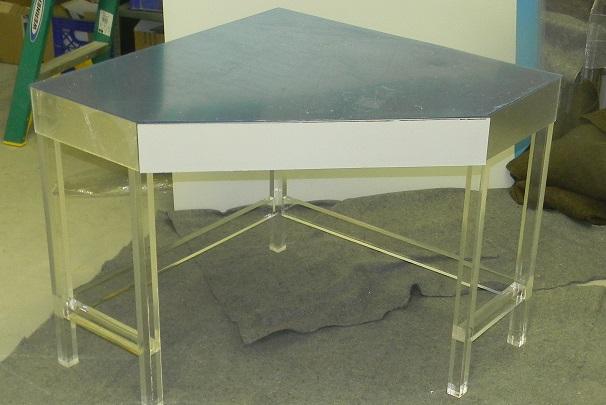 Acrylic Corner Desk