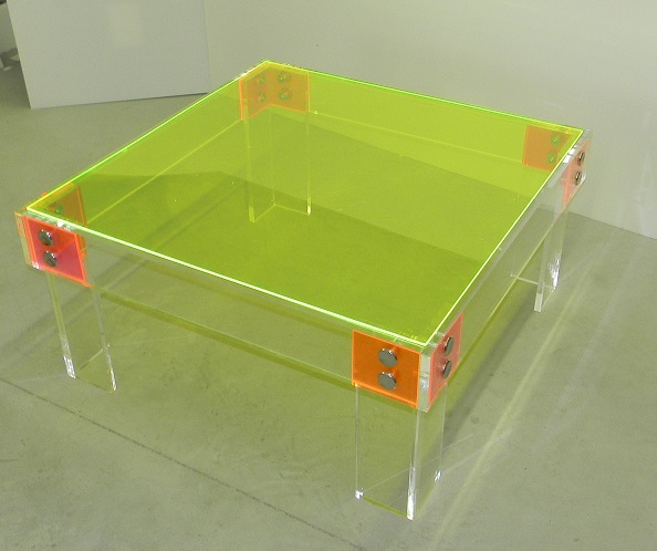coffee table_button line_acrylic_Lucite _neon