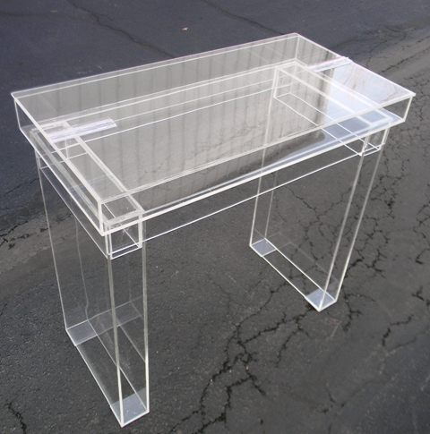 Acrylic Hinge-Top Desk
