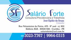 SALÁRIO FORTE | logo e cartão