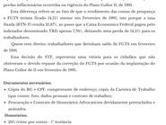 Diferenças do FGTS no Plano Collor II