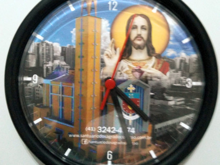 Santuário Sagrado Coração de Jesus | Relógio de Parede