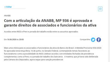 Com a articulação da ANABB, MP 936 é aprovada e garante direitos de associados e funcionários