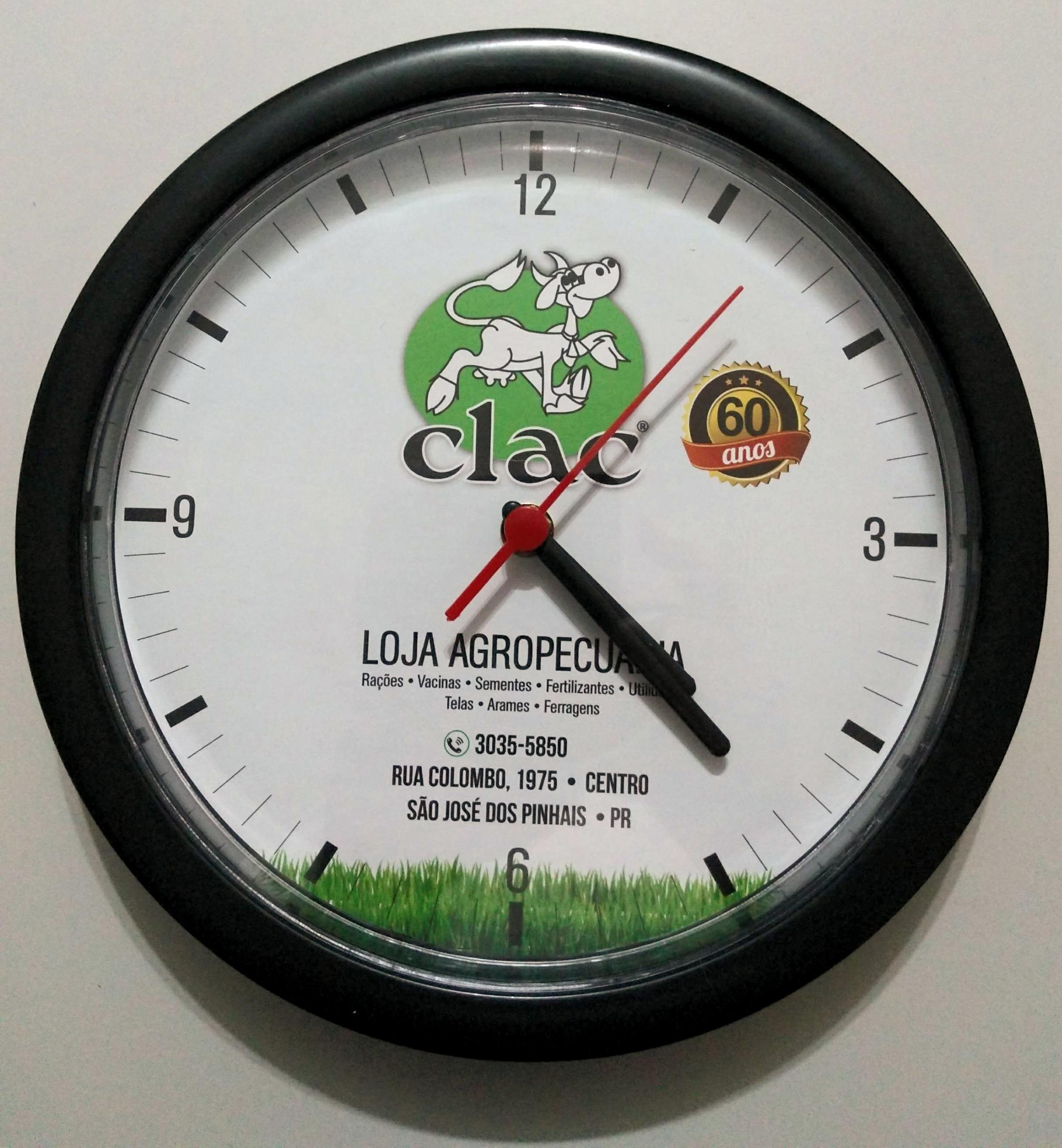 CLAC | relógio parede
