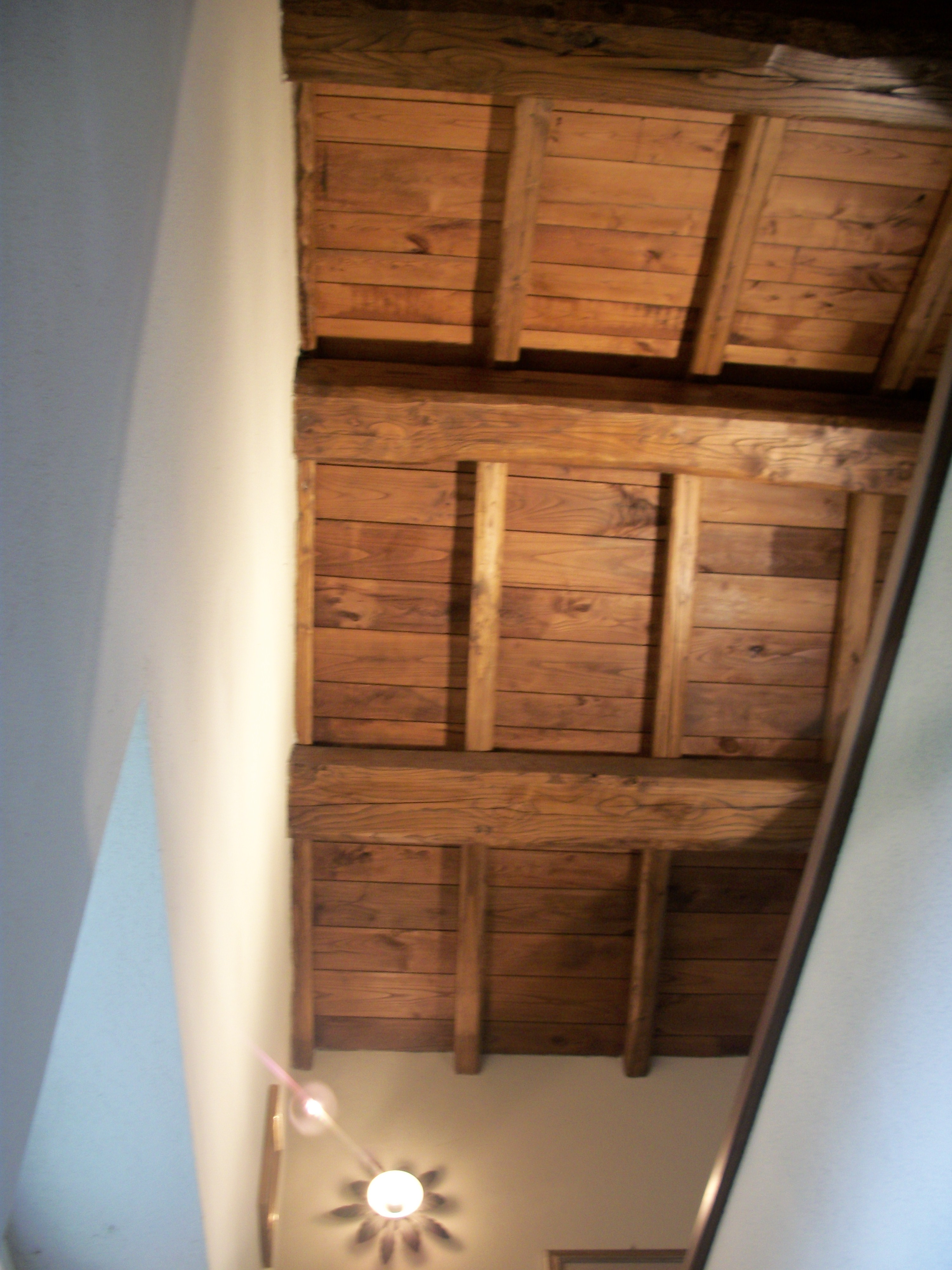 Roof chestnut beams