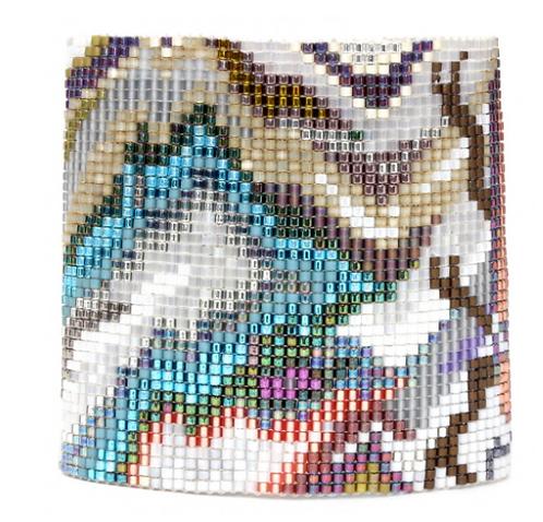 Tahiti Loom-Beaded Cuff