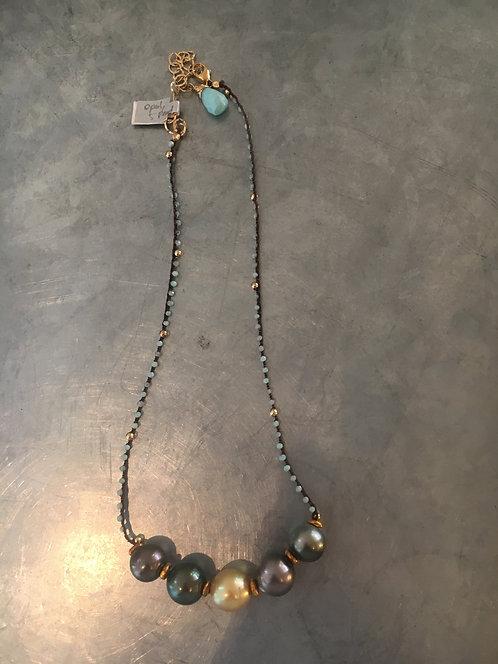5 Tahitian Pearl, 1 South Sea, Peruvian Opal