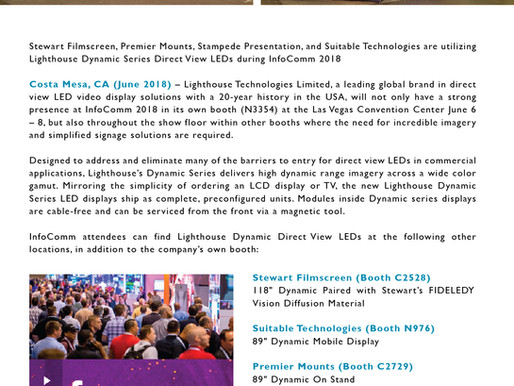 Lighthouse Provides LED Displays to Leading Commercial AV Brands for Immersive Demo During InfoComm