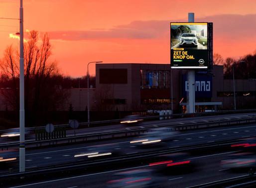 Interbest's Utrecht roadside advertising screen