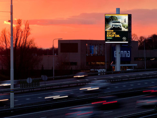 Interbest's Utrecht roadside advertising screen