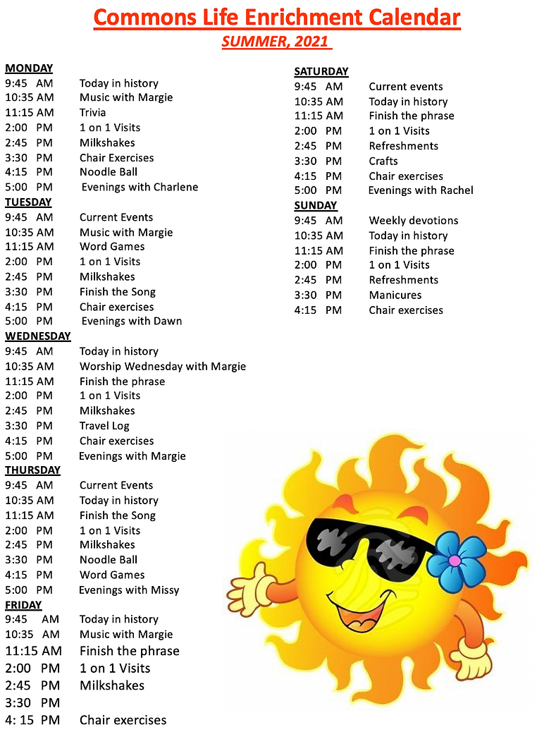 Alois August Activities-Commons