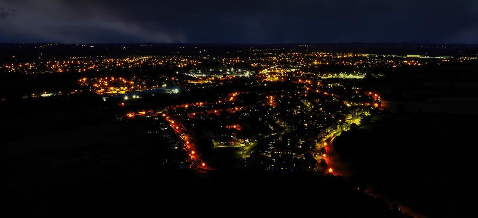 Melksham Town By Night, Melksham, Wiltshire - Catherine Fallon Operations