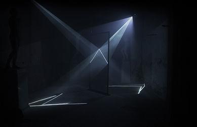 Audiovisual Installation, light installation, video, sound, reflection, projection, 2way mirror