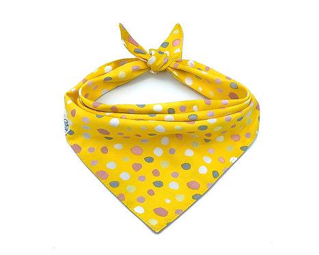 Yellow Bubbles Bandana