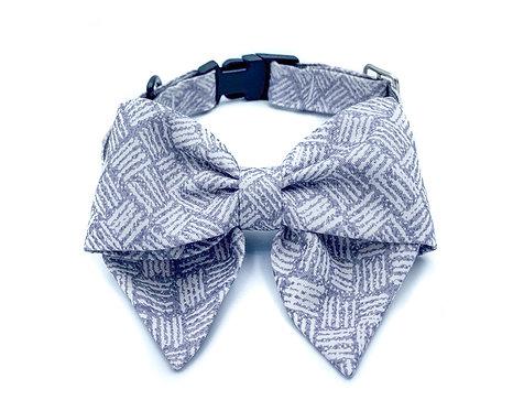 Shades of Gray Blair Bow Collar