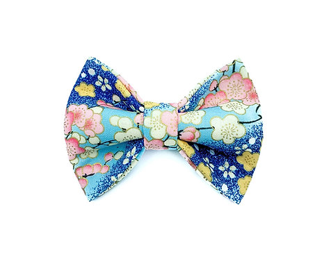 Blue Sakura Bow Tie