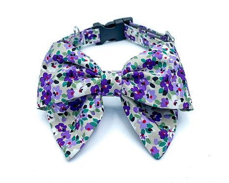 Purple Garden Blair Bow Collar