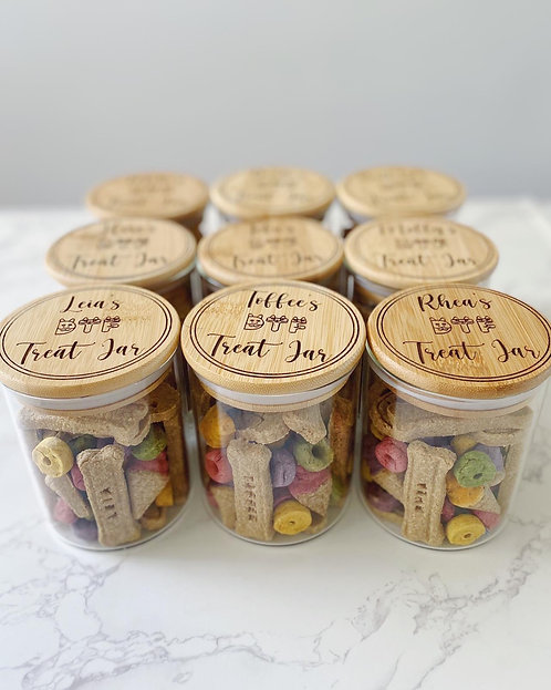 Personalised Treat Jar with DTF Treats