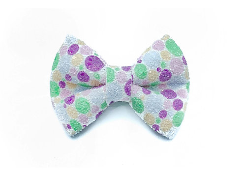 Purple Dot Glitter Bow Tie