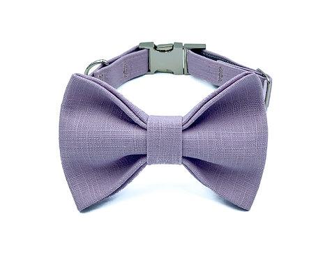 Lavender Macaron Bow Tie Collar
