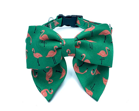 Flamingo Blair Bow Collar