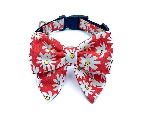 Red Daisy Blair Bow Collar