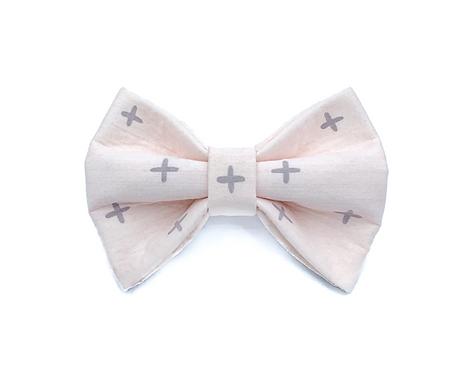 Pink Cross Bow Tie