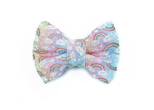 Rainbow Glitter Bow Tie