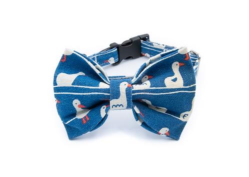 Blue Duck Bow Tie Collar