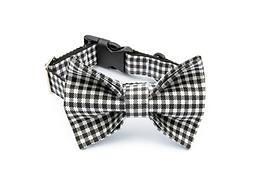 Black& White Bow Tie Collar