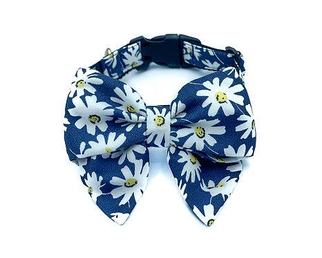 Navy Daisy Blair Bow Collar