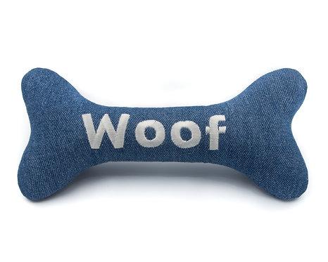 Personalised Dog Squeaky Toy - Denim