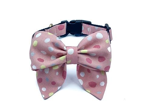 Pink Bubbles Blair Bow Collar