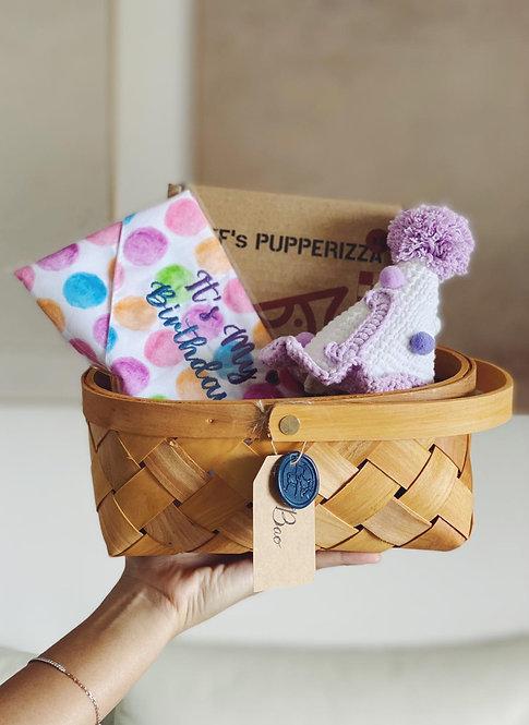 DTF x Woof Pack Barkday Basket