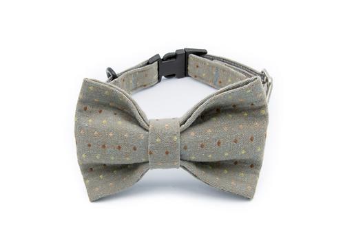 Fun Gray Bow Tie Collar