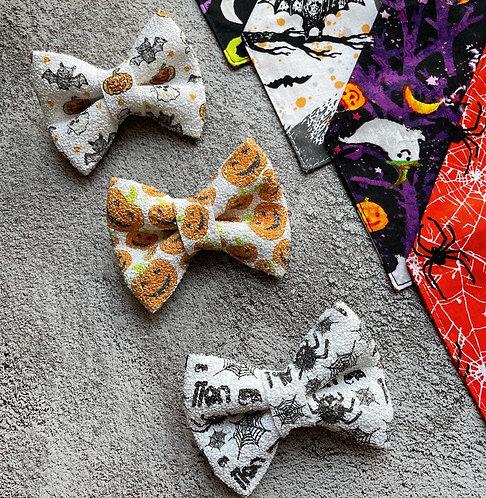 Halloween Glitter Bows